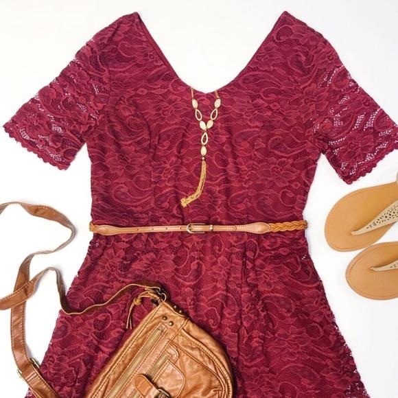 Suzy Shier Burgundy Dresses